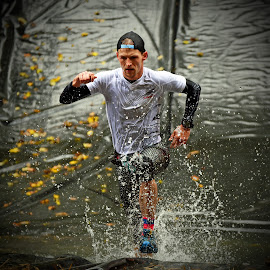 Running, Running, Running ! by Marco Bertamé - Sports & Fitness Other Sports ( water, splash, splatter, 2015, concentrated, warterdrops, running, luxembourg, strong, drops, determined, differdage, strongmanrun, man )