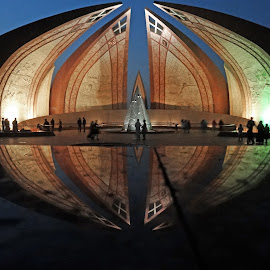 Pakistan Monument by Ammar Ali - Buildings & Architecture Statues & Monuments ( pakistan, monuments, reflection, building, serene, colors, beautiful, contest, reflections, monument, architecture, capital )