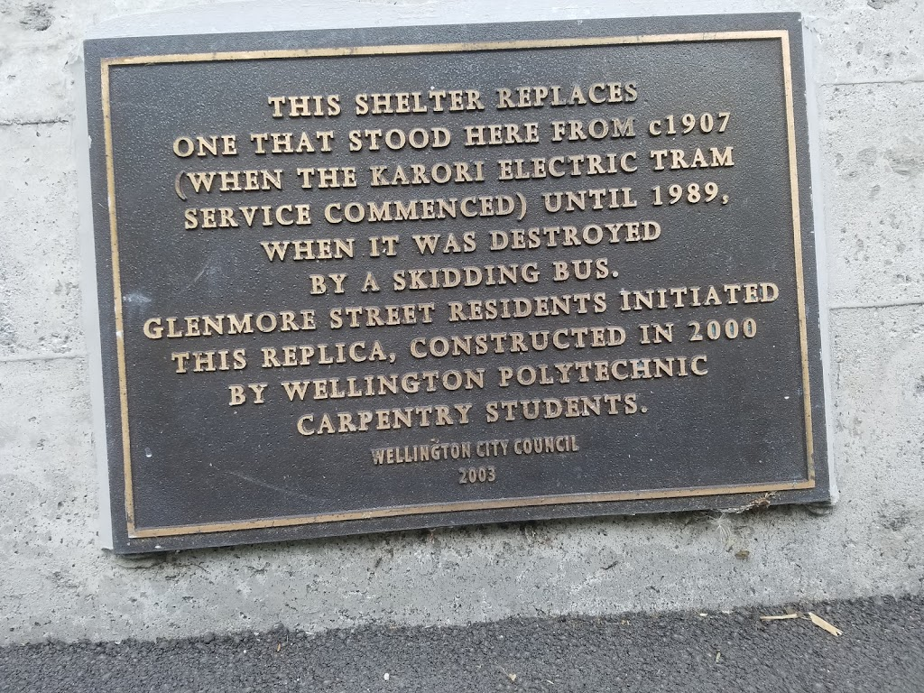 On the way back from Karori, the 2nd largest suburb in the southern hemisphere, towards wellington city is a bus stopass with some history.