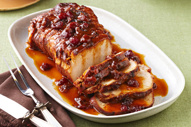 Slow-Cooker Cranberry-Orange Pork Roast Recipe | Yummly