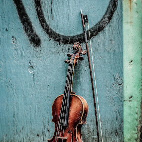 Lonely Violin by Ivan Johnson - Artistic Objects Musical Instruments (  )