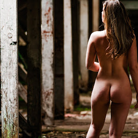 A Walk in the Mill by Ian Cartwright - Nudes & Boudoir Artistic Nude ( mill, dilapidated, nude, woman, naked, liberated ladies, abandoned )