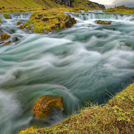 Wild river in Iceland by Michaela Firešová - Landscapes Waterscapes ( water, iceland, nature, long exposure, river )