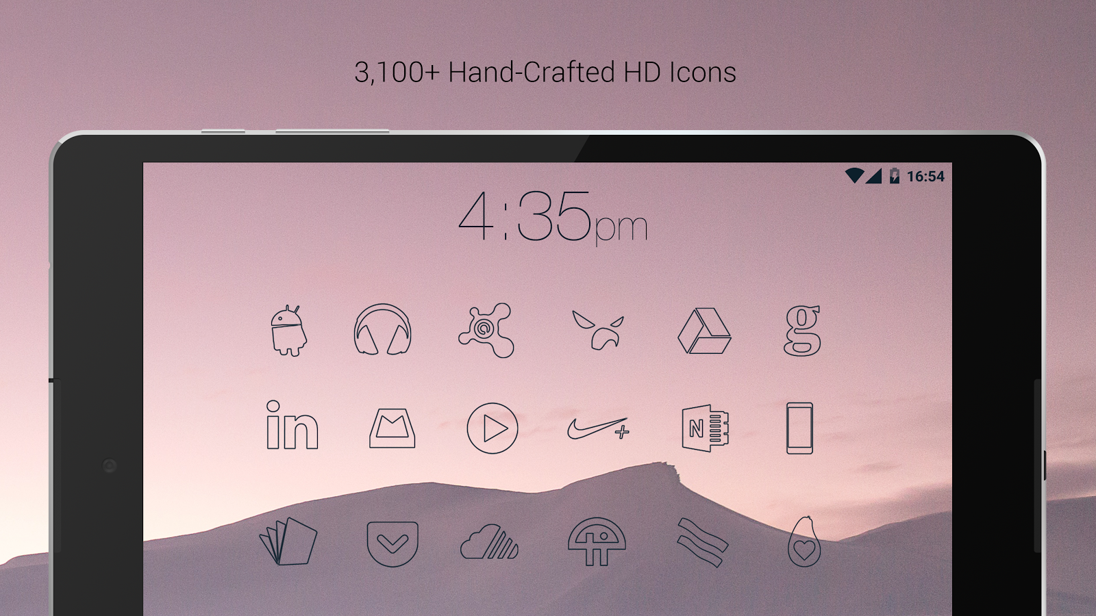 Lines Dark - Flat Black Icons Screenshot 9
