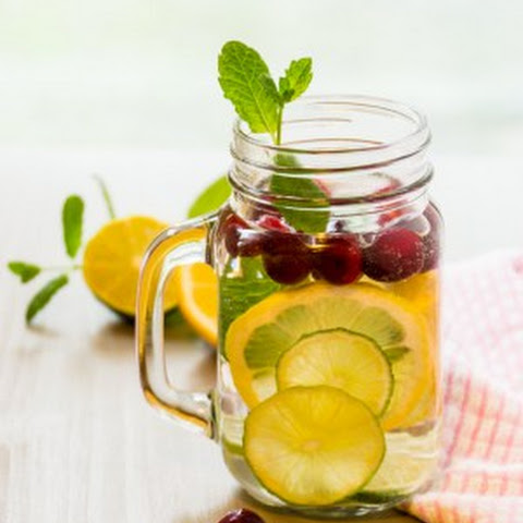 Cranberry Lime Infused Water