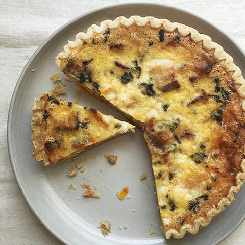 Bacon and Butternut Squash Quiche with Sage and Gruyere