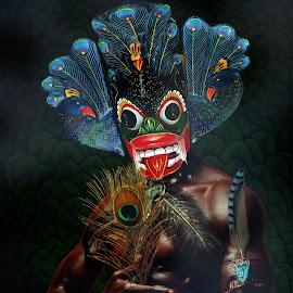 Peacock Demon by Pahalage Don Asantha Aeroshana - Digital Art People