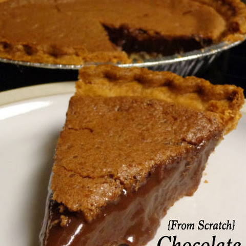 {From Scratch} Chocolate Pudding Pie