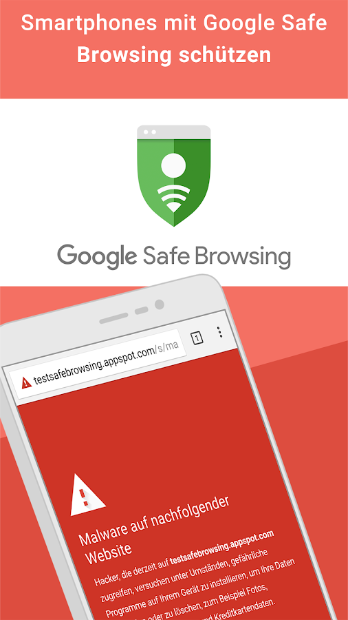 Google Chrome: Sicher surfen – Screenshot