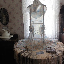 Sheer delight by Debbie Eaton - Artistic Objects Clothing & Accessories ( june tolliver house, soft dress, sheer dress, big stone gap, antique dress )