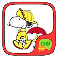 (FREE) GO SMS SNOOPY THEME APK for Bluestacks