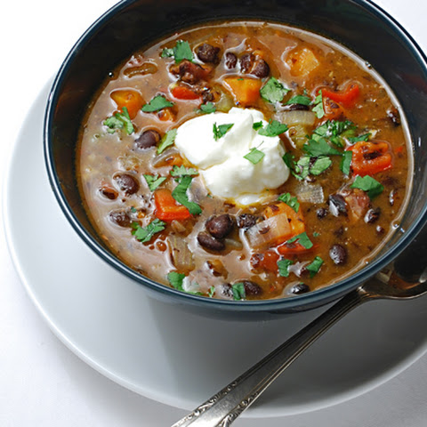 Black Bean Soup with Ham Hocks