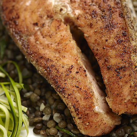 Seared Salmon with Moroccan Spice Crust