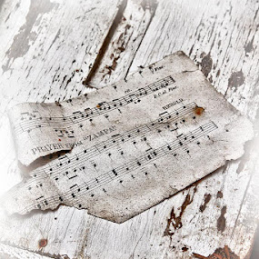 Last Note by Guy Longtin - Artistic Objects Other Objects ( music, old, paper, still life, antique, note )