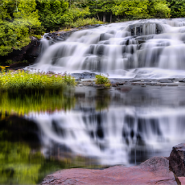 Bond Falls by Andy Taber - Landscapes Waterscapes