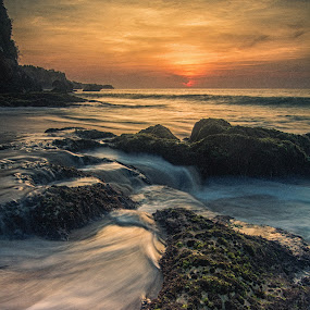 Sunset from Tegalwangi beach, Jimbaran, Bali  by Aloysius Alphonso - Landscapes Beaches