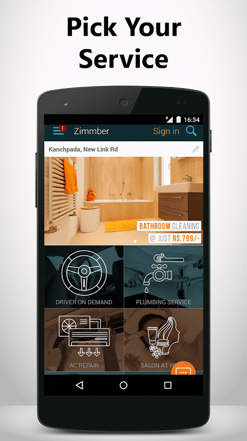 Zimmber- Trusted Home Services Screenshot