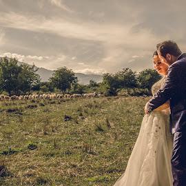 Wedding by JimmyJoe CreationTeam - Wedding Bride & Groom ( nature, goom, wedding, couple, landscape, bride )