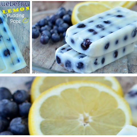 Blueberry Lemon Pudding Pops