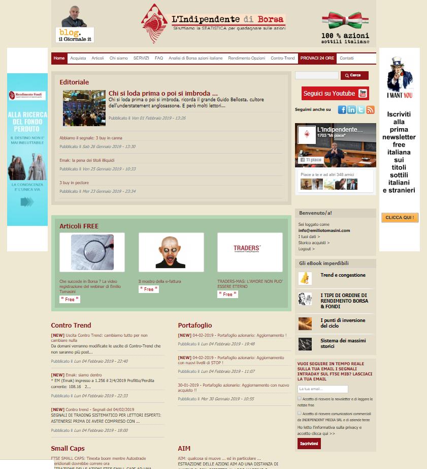 2217cb1ed2 Una newsletter di Borsa e un sito che scrivono le informazioni di Borsa che  gli altri non ti dicono