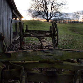 Over the Wagon by Kevin Frick - City,  Street & Park  City Parks ( cabin, park, west virginia, wagon )