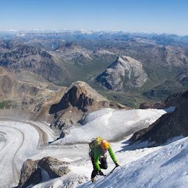 Skyrunning by Menno Visser - Sports & Fitness Climbing ( solo_climbing, climbing, mountains, adventure, mountain, alpine_climbing, solo, altitude, switzerland, high, alps, alpine )