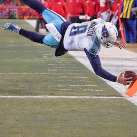 Titans wildcard touchdown by Joey Hedges - Sports & Fitness American and Canadian football ( nfl* wildcard* titans* touchdown* football* )