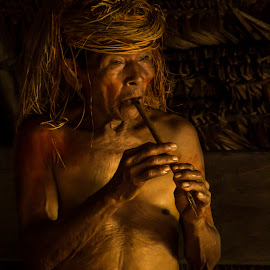 by Meg Francoeur - People Musicians & Entertainers ( flute player, yagua )