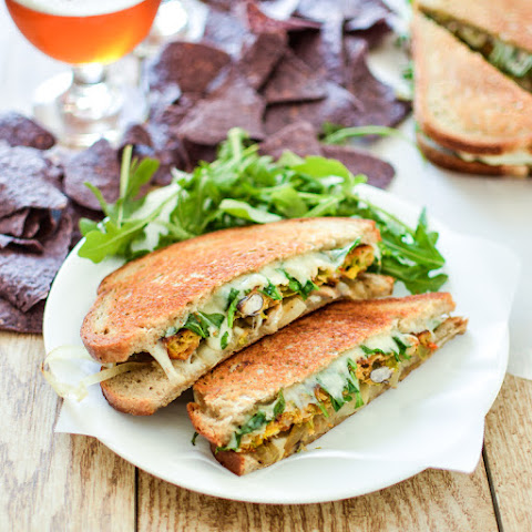 Vegetarian Patty Melts with Chile Relleno Veggie Burgers