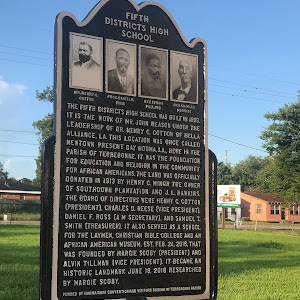 The Fifth Districts High School was built in 1893. It is the work of Mr. John Reason under the leadership of Dr. Henry C. Cotton of Bella Alliance, LA. This location was once called Newtown present ...