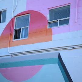 by Anissa Meghji - City,  Street & Park  Neighborhoods ( circles, colourful, novice, street art, amateur, mural, street photography )
