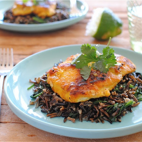 Turmeric Chicken with Coconut Wild Rice