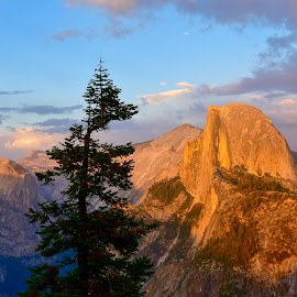 Half Dome by Kathleen Koehlmoos - Landscapes Mountains & Hills ( half dome, half dome at sunset, yosemite, yosemite national park, gorgeous photos )