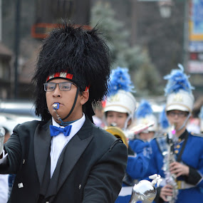 Blue Jay Parade 2012 by Steve Keefe - Novices Only Street & Candid ( parade, band, drum major, lake arrowhead, blue jay )