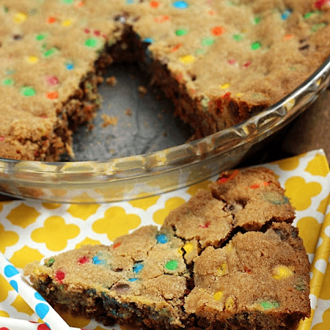 M&M's Cookie Pie