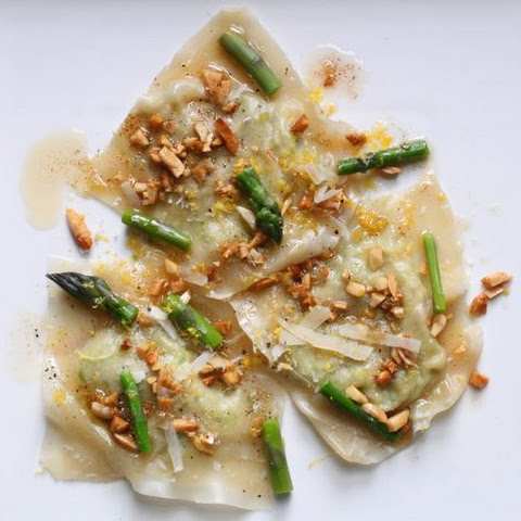 Asparagus Ravioli with Brown Butter Sauce