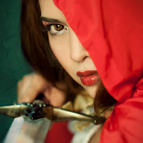 Red by Darryl Espiritu - People Portraits of Women