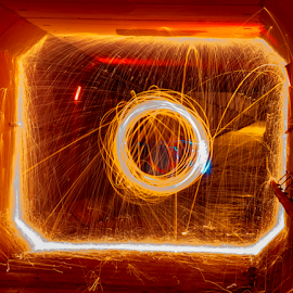 Spinning by Tina Hailey - Abstract Light Painting ( light painting, spinning, tina's captured moments, tunnel )