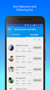 App Hashtag Users - Twitter management tools apk for kindle fire