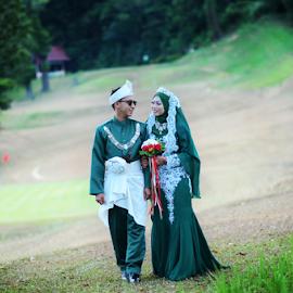 outdoor session Akma & Azry by Ahmad Jabar Jaffar - Wedding Bride & Groom ( love, azryandakma, vascocam, wedding, couple, nikon, vsco )
