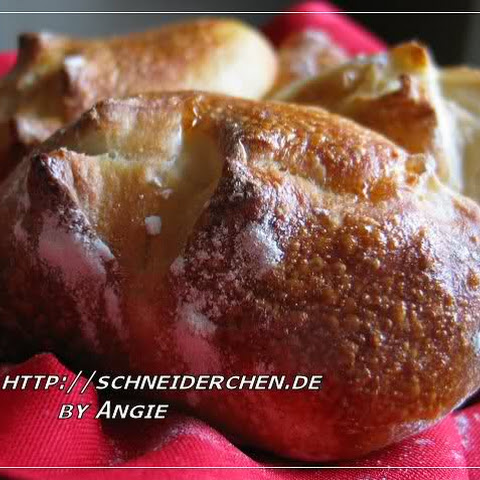 Traditional German Hard Rolls Broetchen