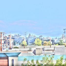 by Judson Resch - City,  Street & Park  Skylines