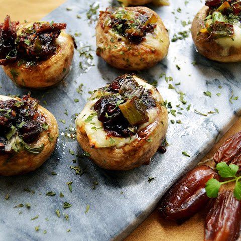 Brie & Date Stuffed Mushrooms