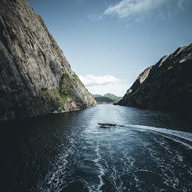 Trollfjorden by Vivian Ebeltoft - Landscapes Travel ( fjord, mountains, view, seascape, cruise, travel )