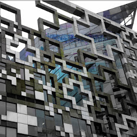 birmingham by Kathleen Devai - Buildings & Architecture Office Buildings & Hotels ( office, shapeabstract, lines, shape, city )