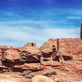 Wukoki Pueblo by Richard Michael Lingo - Buildings & Architecture Public & Historical ( wupatki national monument, pueblo, arizona, buildings, historic )