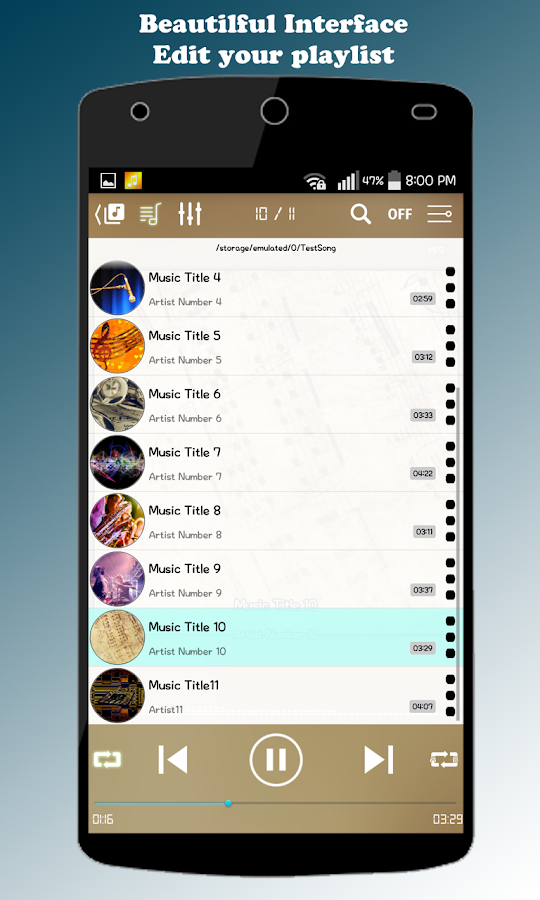 ZZang Music Player Screenshot 4