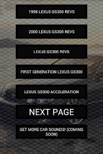 Engine sounds of Lexus GS300 - screenshot