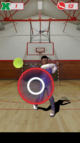 android Veemee Avatar Tap Tennis Screenshot 2