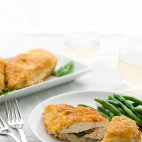 Stuffed Chicken Breasts with Prosciutto, Basil, & Cheese